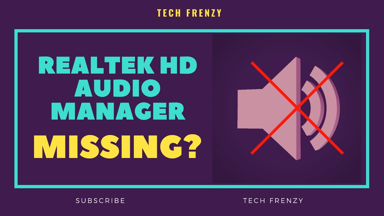 Realtek HD Audio Manager Windows 10 Missing ? | [100% Fix]