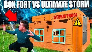 SURVIVING The Night! ULTIMATE Thunderstorm VS Box Fort (24 Hour Challenge)