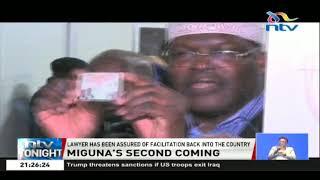 Miguna Miguna starts his journey back to Kenya