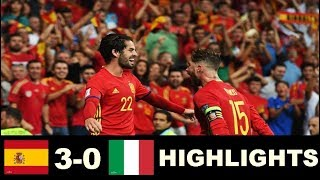 Spain vs Italy 3-0 Highlights - World Cup Qualifiers 02/09/2017