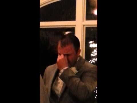 Grooms reaction to seeing bride