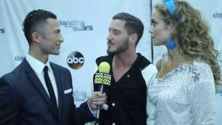 Dancing with the Stars - Elizabeth Berkley & Val Chmerkovskiy AfterBuzz TV October 14th Interview