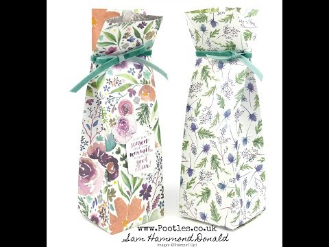 Stampin' Up! Frosted Florals Bag Tutorial - วันที่ 03 Sep 2018