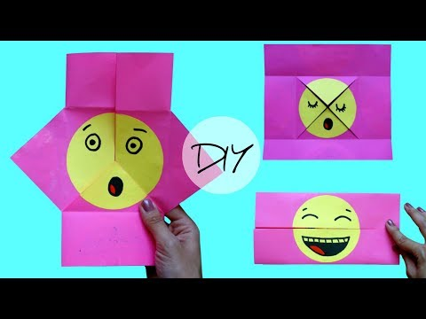 Emoji face changer | Easy kids games | Origami for kids | Emoji DIY Paper Magic Card