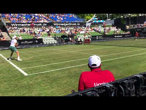 Tommy Haas side shot in Mercedes Cup 2017