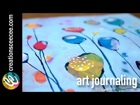 art journaling pretties with negative painting