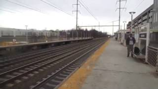 Amtrak Northeast Corridor Railfanning at Hamilton, NJ With A Train Race On The 1st Day of February