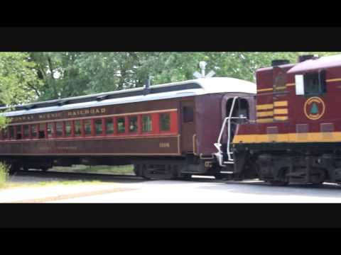 Conway Scenic Railroad Train arriving in Conway New Hampshire