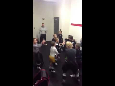 Gangnam Style hockey locker room celebration