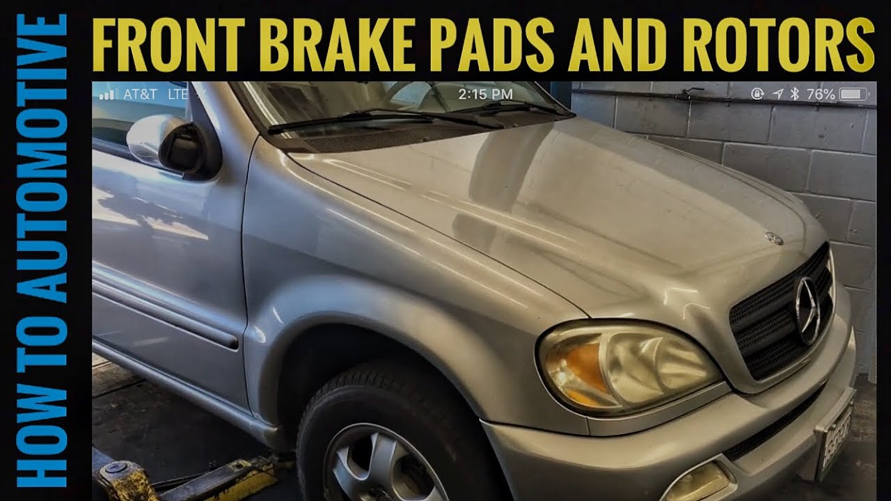 How to Replace Front Brake Pads Rotors and Sensors on a 2005 Mercedes ML350