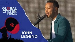 John Legend Performs Redemption Song | Global Citizen Festival NYC 2018