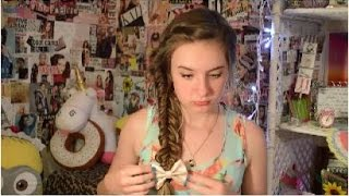 Bohemian Side-Braid, Sock Bun & Beachy Hair Thumbnail