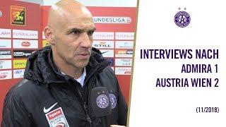 Interviews nach Admira - Austria Wien 1:2