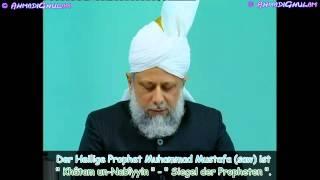 Was ist der Grundsatz der Ahmadiyya Muslim Gemeinde?