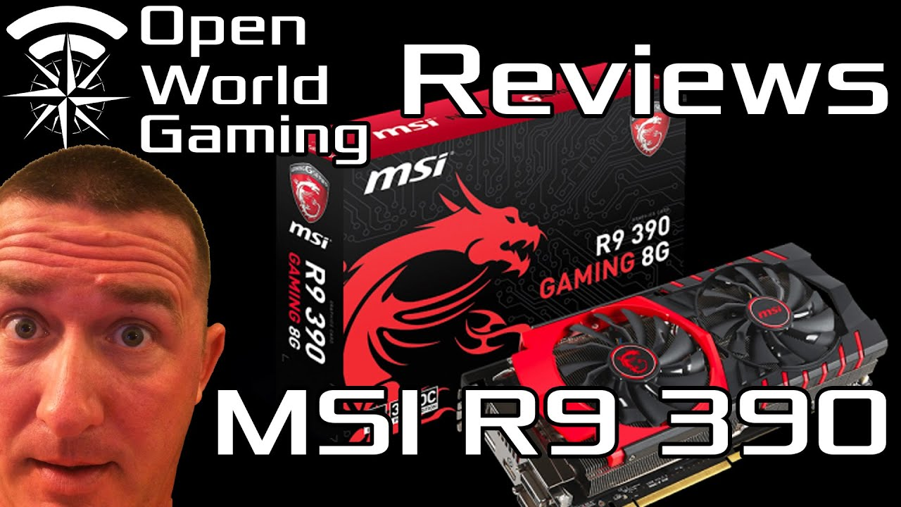 New MSI R9 390 Gaming Video Graphics Card UnBoxing & Review