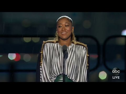 Naomi Osaka speech at the ESPYs after accepting award for best women's athlete 2021