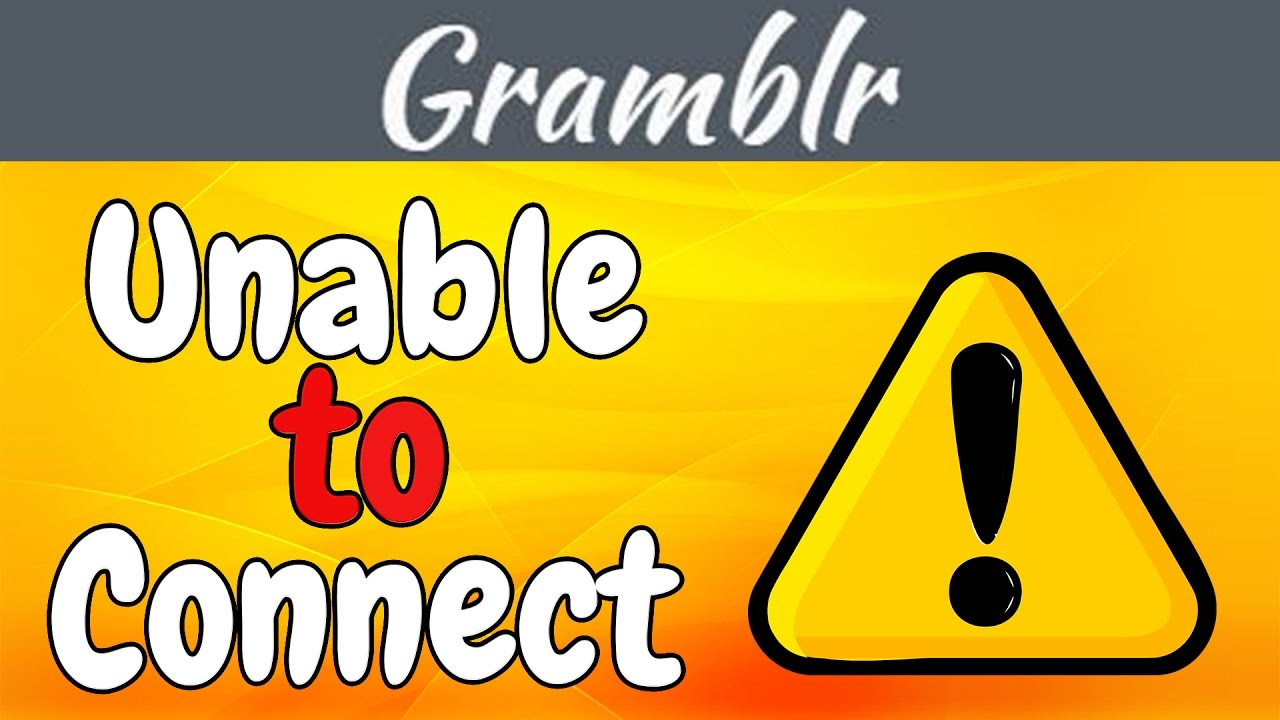 How to solve Gramblr