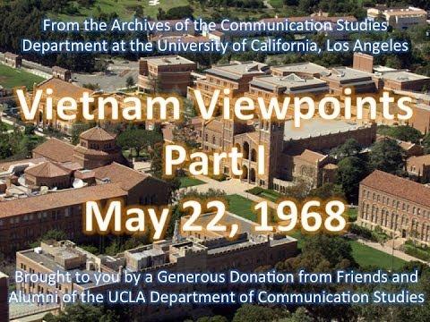 159 Vietnam Viewpoints Part I - UCLA 5/22/1968