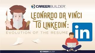 Leonardo da Vinci   Traces the Evolution of Resume   CareerBuilder India
