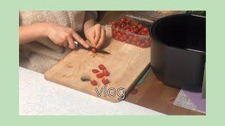 김치와 토마토가 넘쳐나는 자취 요리& 약간의 일…