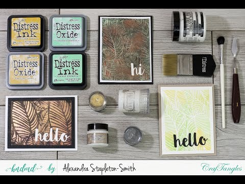 How To Cardmaking Crafty Hack: 3 New Ways to use a stencil with HNDMD by Hedgehog Hollow