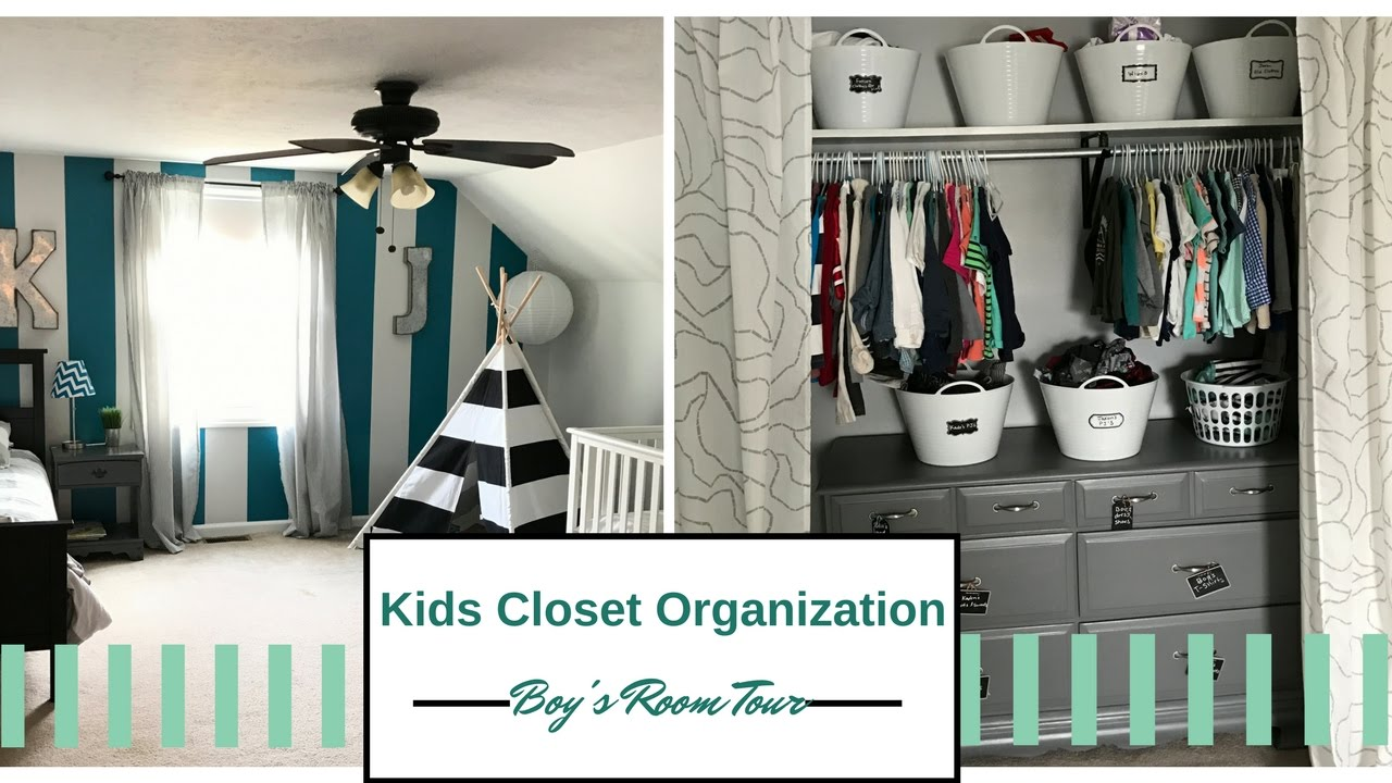 KIDS CLOSET ORGANIZATION | DDOLLAR TREE BINS | ROOM TOUR