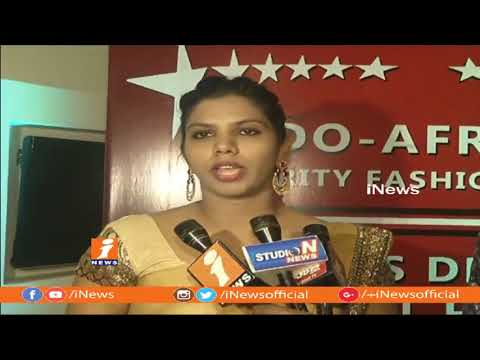 Indo  African Fashion Show In Hyderabad   Models Ramp Walk With Tribal Designs   iNews