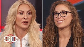 Ronda Rousey Charlotte Flair Becky Lynch talk womens main event at WrestleMania 35  SportsCenter
