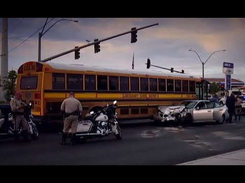 Dozens of Clark County School District buses already involved in crashes