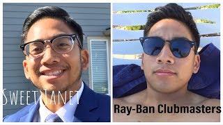 """Sweet Janet"" Eyebuydirect Ray Ban club master RX5154 like frames comparison"