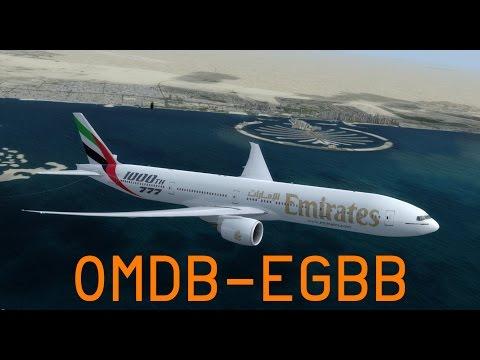 P3D V3.4 | VATSIM | Dubai - Birmingham | UAE41