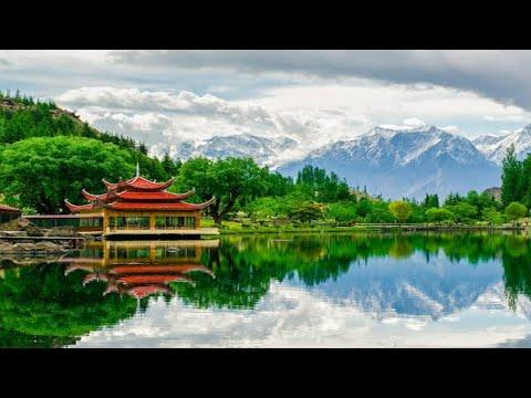 Pakistan Northern Area Mountains And Lakes View | Shangrila Resort Skardu View