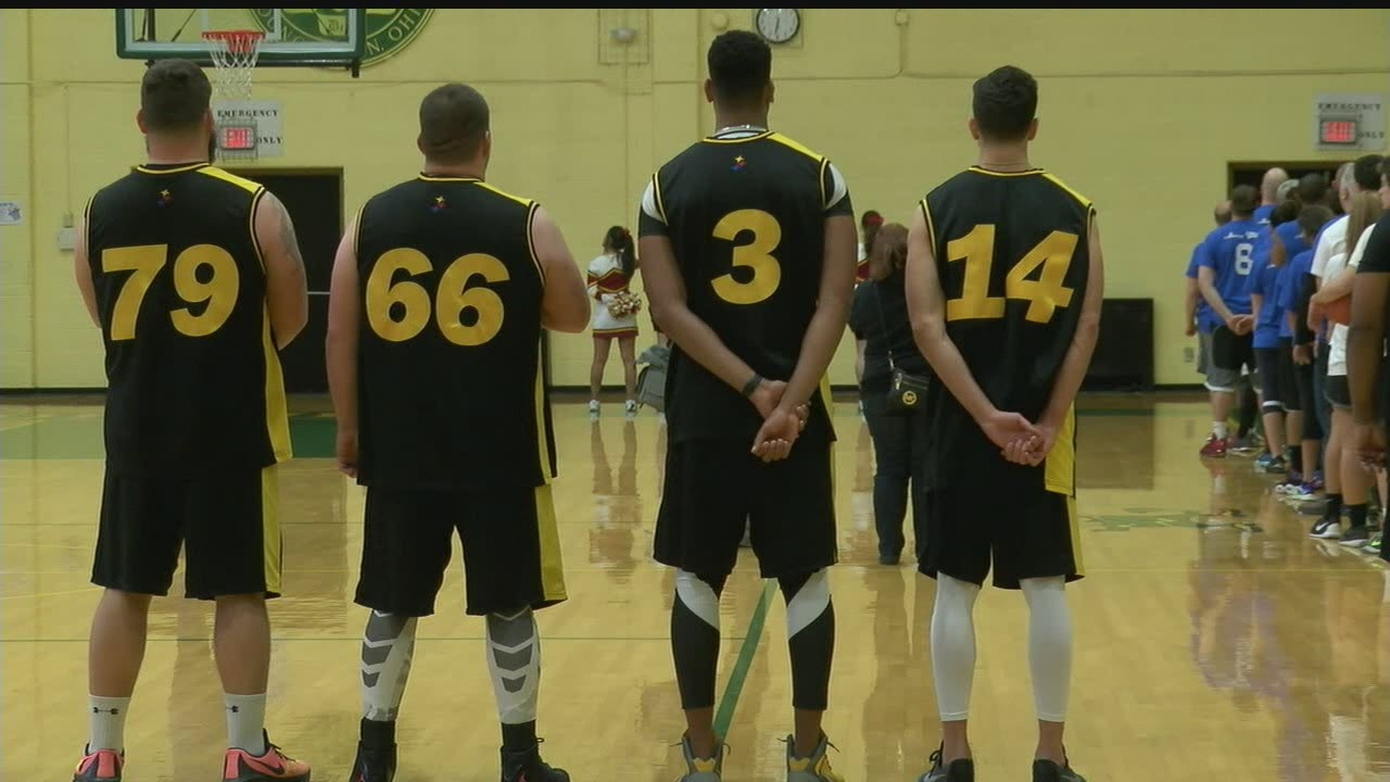 59f3bde653c Local officials face Pittsburgh Steelers in charity game - YouTube