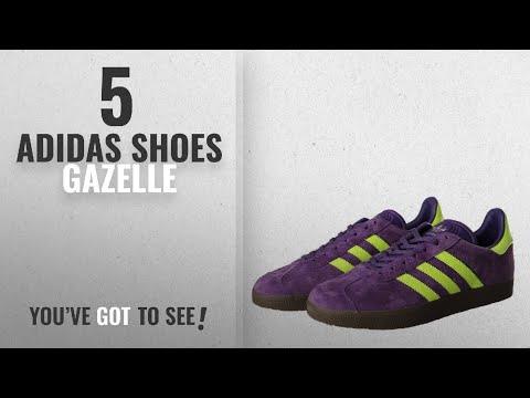 top-5-adidas-shoes-gazelle-[2018]:-adidas-originals-men's-gazelle-lace-up-sneakers,-purple/electric