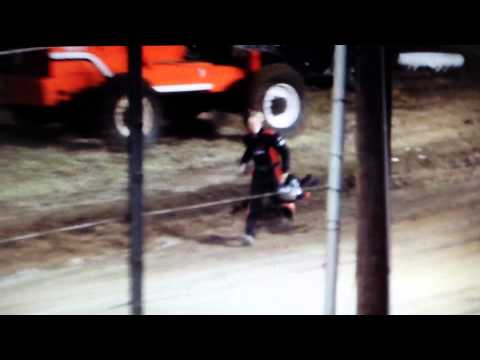 Crash and fight at humboldt speedway