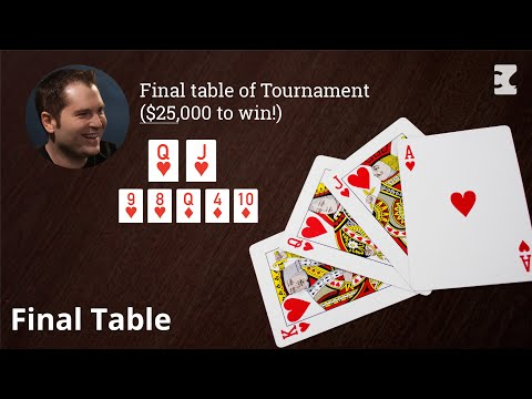 Final Table Of Tournament ($25,000 To Win!)