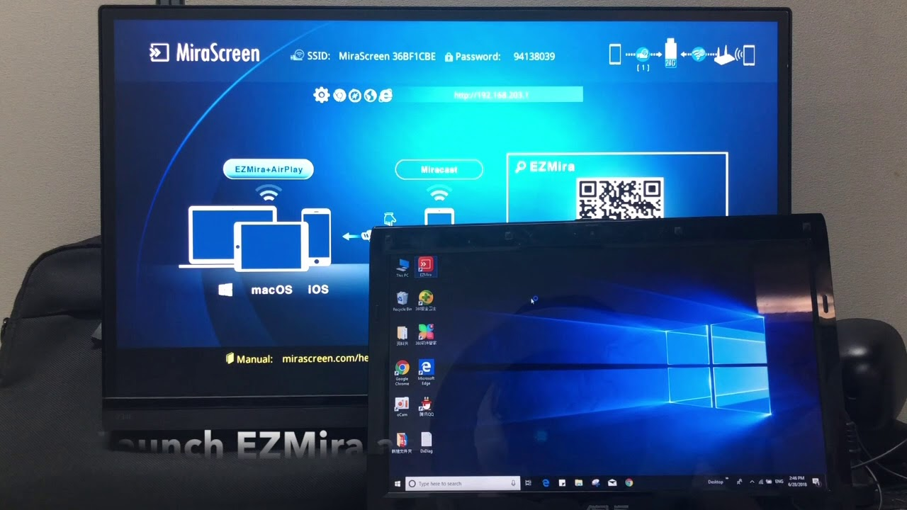 MiraScreen 2 4G Windows Mirroring