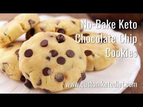 how-to-make-no-bake-keto-chocolate-chip-cookies-  -ketodiet-food-recipe