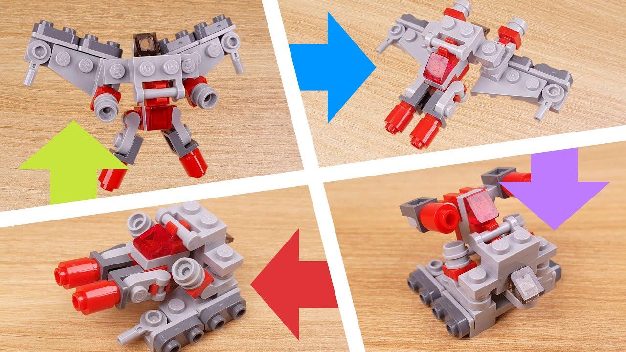 How to build mini LEGO bricks Quadruple changer transformer mech - Megaquad