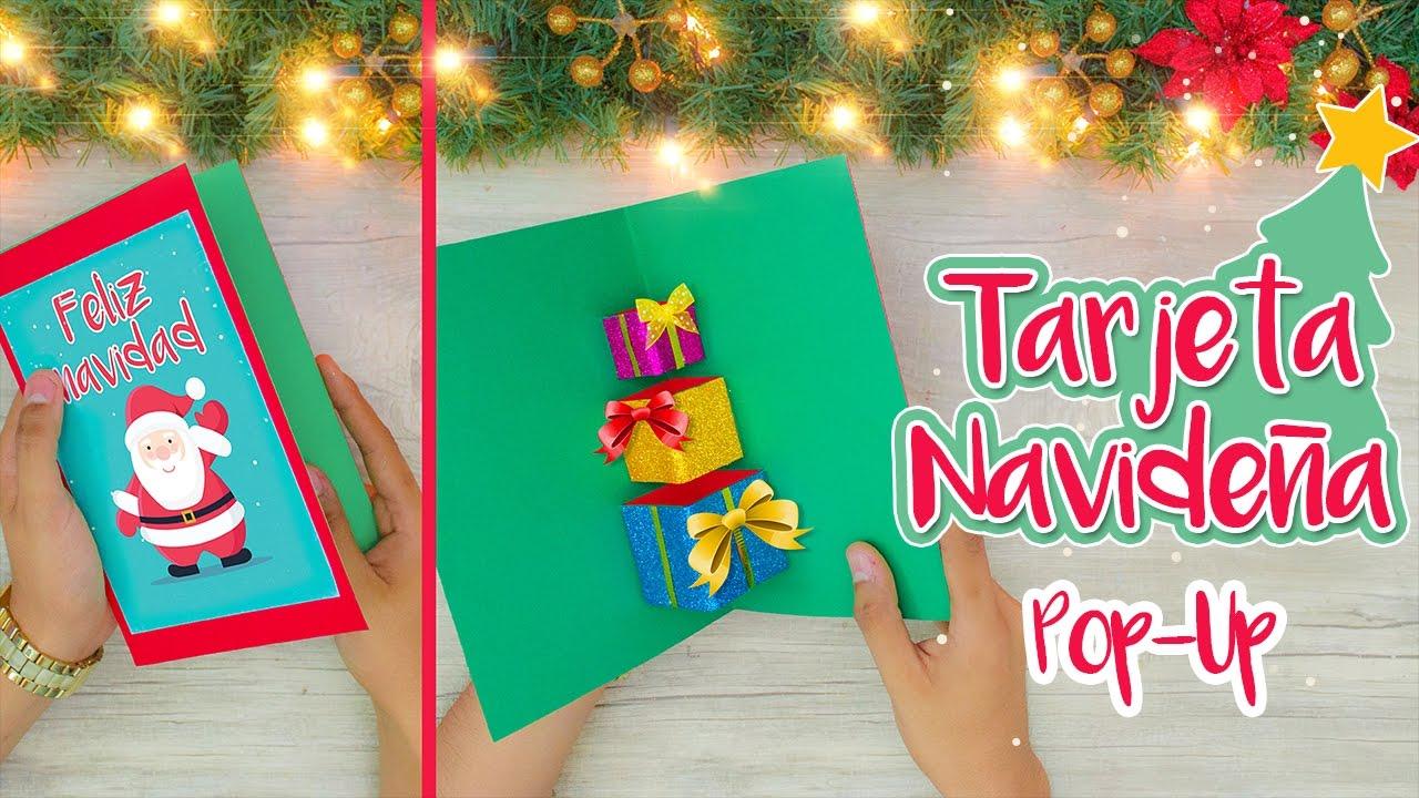 Como hacer tarjetas de navidad en 3d pop up