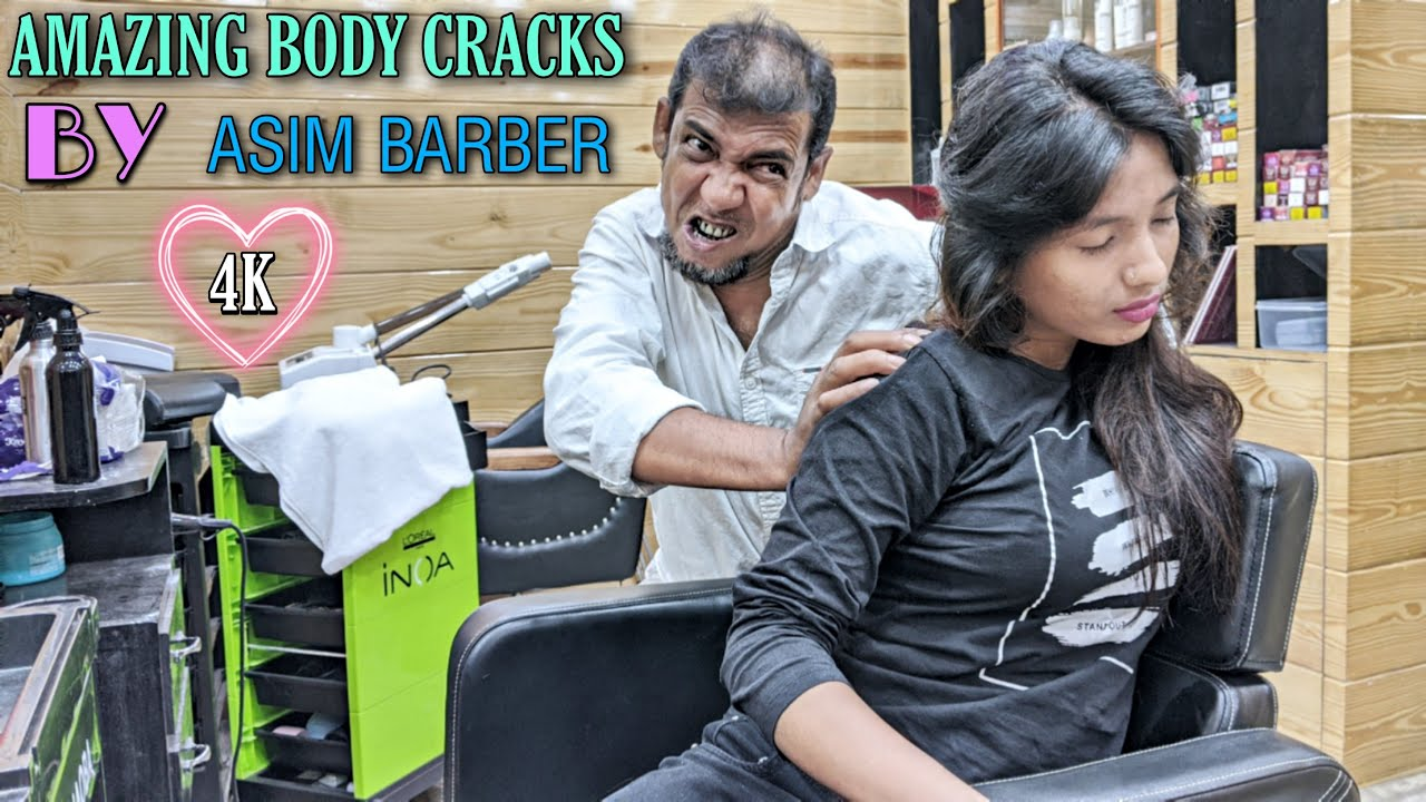 Why Asim Showing extra care for her? ASMR Head Massage with Neck, Elbow, Hair, Ear, Spine Cracking