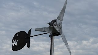 Ep12: Générateur éolienne 50 watts en PVC  / wind turbine generator 50w