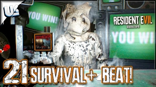 beating 21 survival mode   resident evil 7 biohazard banned footage vol 2 dlc   ps4 pro gameplay
