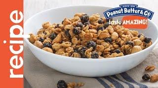 Maple Peanut Butter Breakfast Granola Recipe