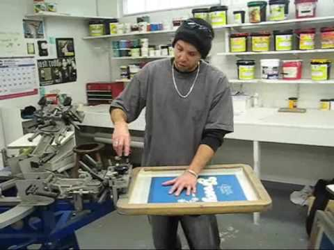 How to screen print custom t shirts part 1 youtube for T shirts for screen printing