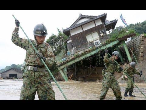 Volunteers trickle in to help clean up flood damage in Kyushu