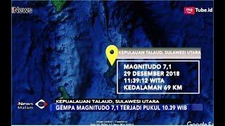 Gempa Magnitudo 7,1 Guncang Kep. Talaud, Tak Ada Laporan Terdampak - iNews Malam 29/12