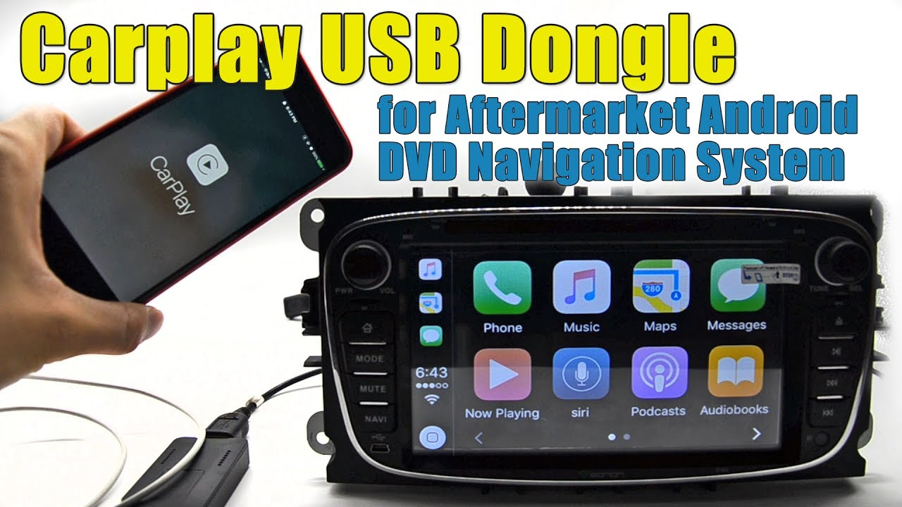 Carplay Usb Dongle For Android Dvd Navigation System Youtube