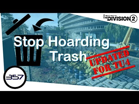 Stop Hoarding Trash - UPDATED FOR TU4 - Inventory Management Guide - The Division 2