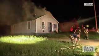 House backdraft caught on camera